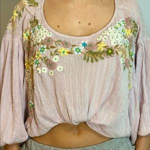 pink free people top
